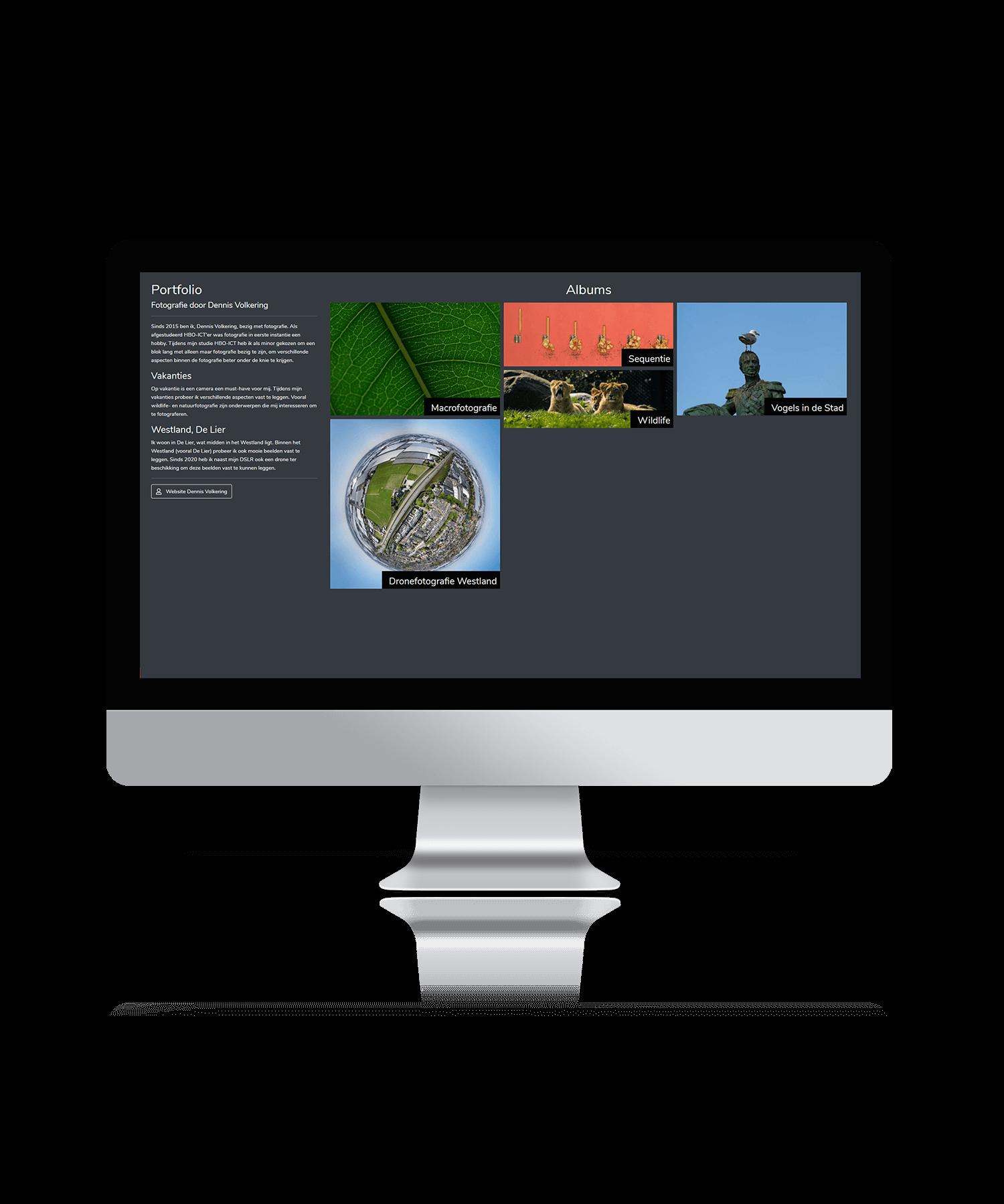 Fotografie portfolio - Mockup website
