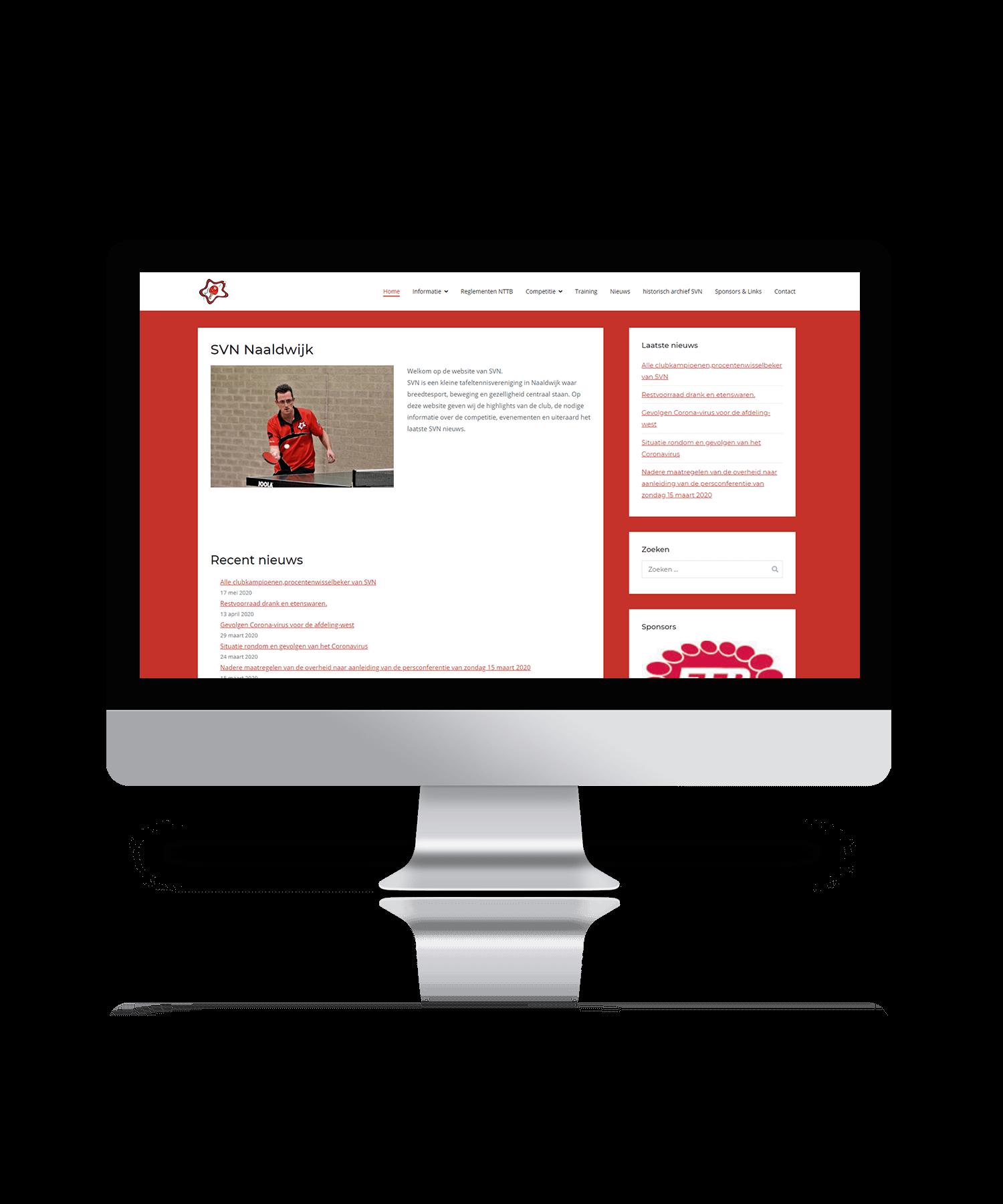 SVN Naaldwijk - Mockup website