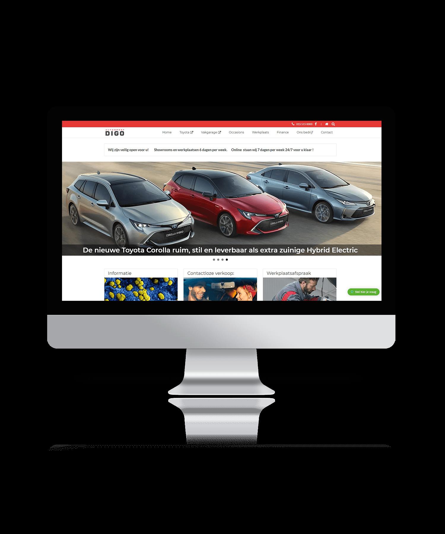 Digo Delft - Mockup website